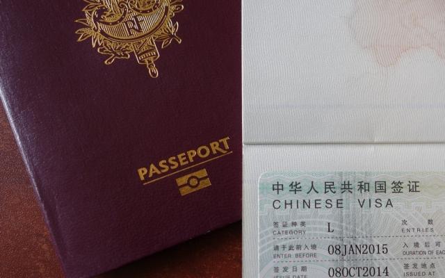Le visa chinois