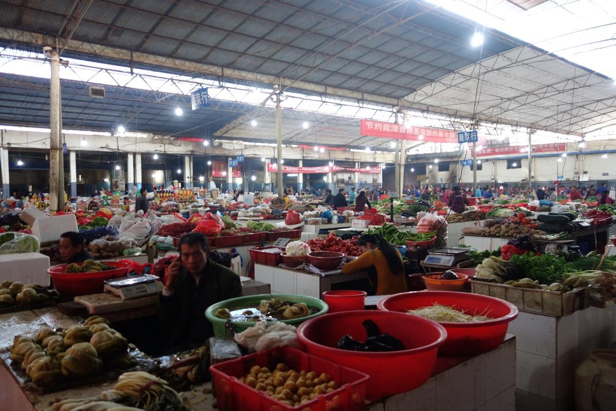 Le marché des légumes