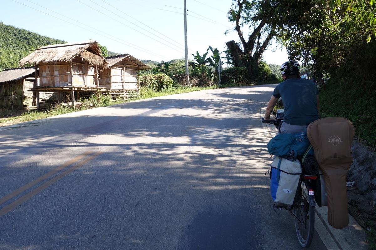 Les habitations typiques du Laos