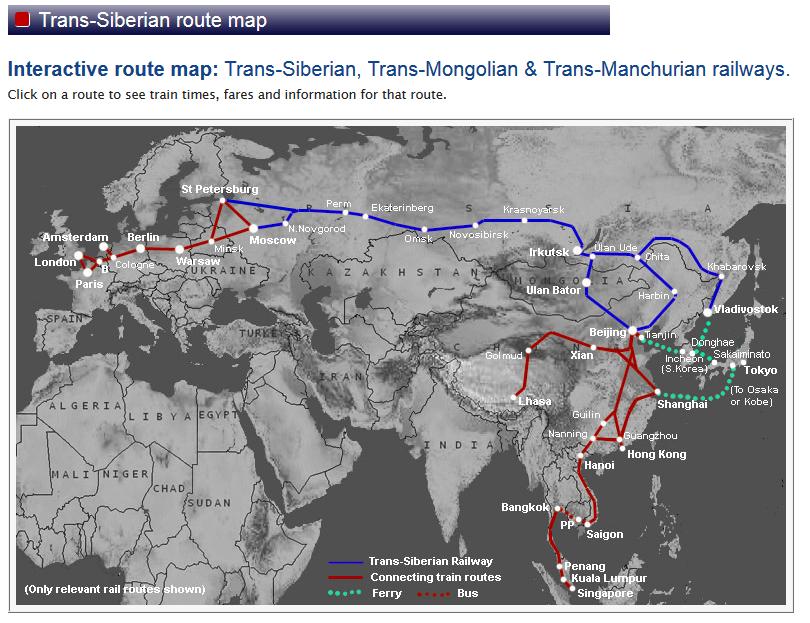 A propos du transsibérien et de ses connexions avec l'Asie du Sud-Est, il y a tout !